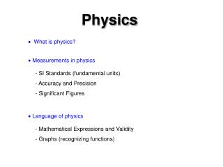    What is physics?