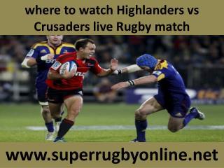 online Rugby Crusaders vs Highlanders