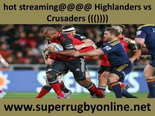 Rugby Crusaders vs Highlanders