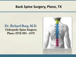 Back Spine Surgery Plano, TX