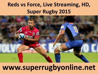 Reds vs Force, Live Streaming, HD, Super Rugby 2015