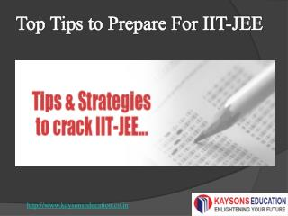 top tips for preparing JEE