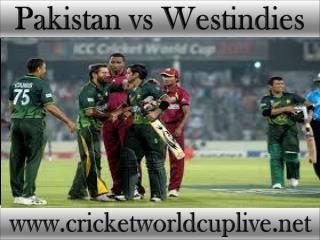 live cricket match Pakistan vs West indies 21 feb 2015