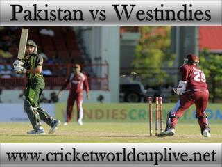 Pakistan vs West indies match will be live telecast on 21 fe