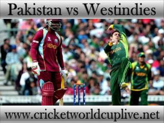 watch Pakistan vs West indies live cricket match online feb
