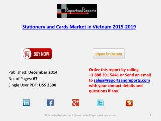 Stationery and Cards Market in Vietnam 2015-2019