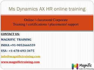 microsoft dynamics ax online training human resource