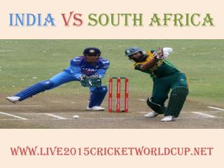 India vs South Africa Cricket WC live
