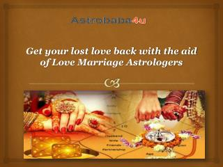 Love Marriage Specialist  Astrologers