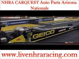 Watch NHRA CARQUEST Auto Parts Arizona Nationals