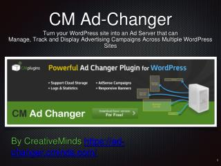 Introduction to the CM Ad-Changer Plugin for WordPress