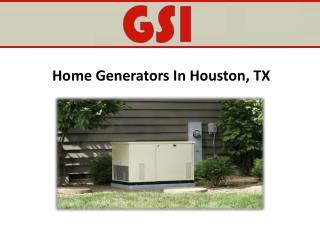 Home Generators In Houston, TX