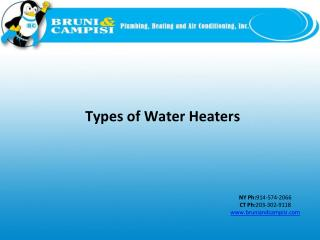 Slide: Types of Water Heaters