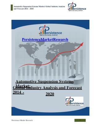 Automotive Suspension Systems Market: Global Industry Analys