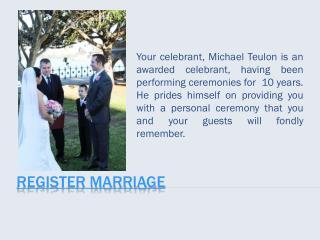 Register Marriage
