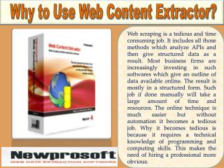 Why to Use Web Content Extractor?