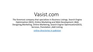 Vasist Business Services