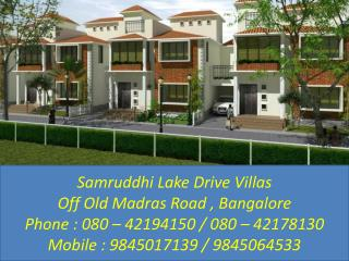 Samruddhi Lake drive - Call 9845017139