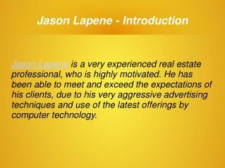 Jason Lapene - Real Estate Producer