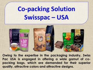 Co-Packing Solution By Swisspac America