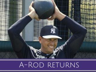 A-Rod returns