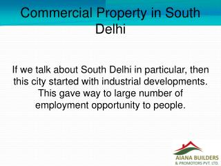 Commercial Property in South Delhi