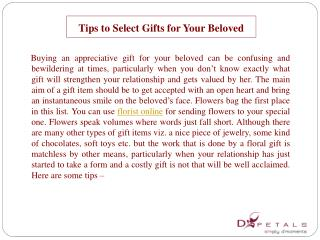 Tips to Select Gifts for Your Beloved