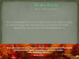 Get online prasad at bhakti online