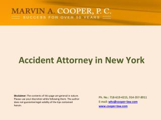 Accident Attorney in New York