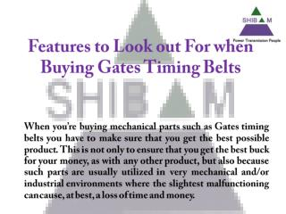 Gates Timing Belts | Automotive Belts