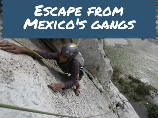 Escape from Mexico's gangs