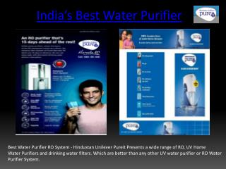 Best Water Purifier RO System| Pure Water