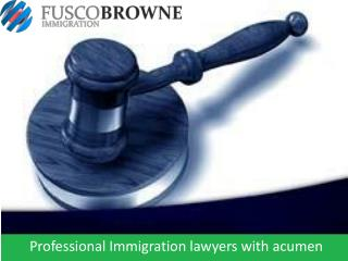 Professional Immigration lawyers with acumen