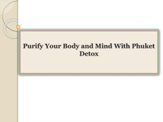 Purify Your Body and Mind With Phuket Detox