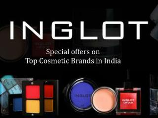 Offers on top cosmetic brands in India