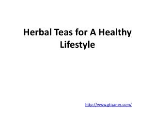 Herbal Teas for A Healthy Lifestyle