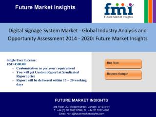 Digital Signage System Market - Global Industry Analysis and