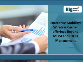 Enterprise Mobility: Wireless Carrier offerings Beyond MDM a