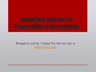Important Tips On Tax Preparation In Sacramento
