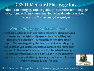 Home Mortgage Rates in Edmonton
