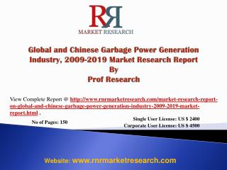 Garbage Power Generation Market Global &China 2019 Forecast