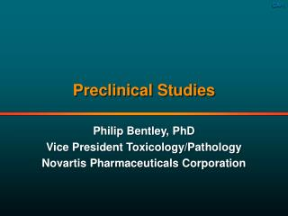 Preclinical Studies