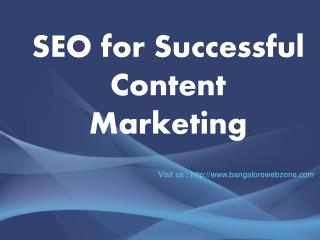 SEO for Successful Content Marketing