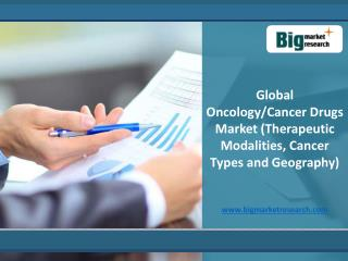 Global Oncology/Cancer Drugs Market Growth 2013-2020