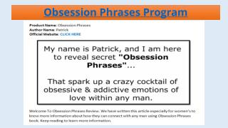 Obsession Phrases - Does It Work?