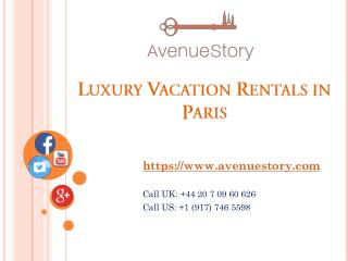 Luxury Vacation Rentals in Paris