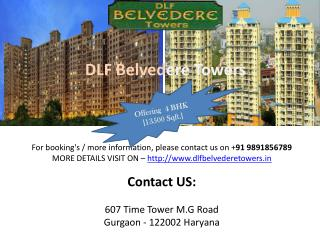 SoftLaunch Project DLF Belvedere Towers 4 BHK Residential Ho