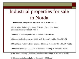 For sale : 250 meter factory in noida 9643848730