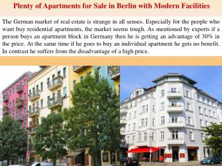 Plenty of Apartments for Sale in Berlin with Modern Faciliti