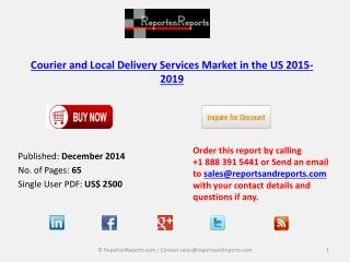 Courier and Local Delivery Services Market in US 2015-2019
